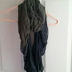 Grey with blue tied dyed ends scarf